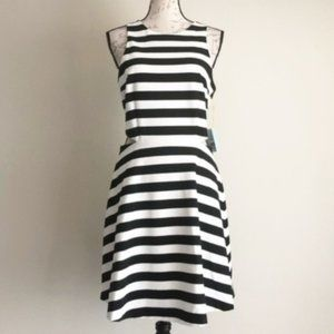 CeCe by Cynthia Steffe Striped Cut-Out Dress Sz 10